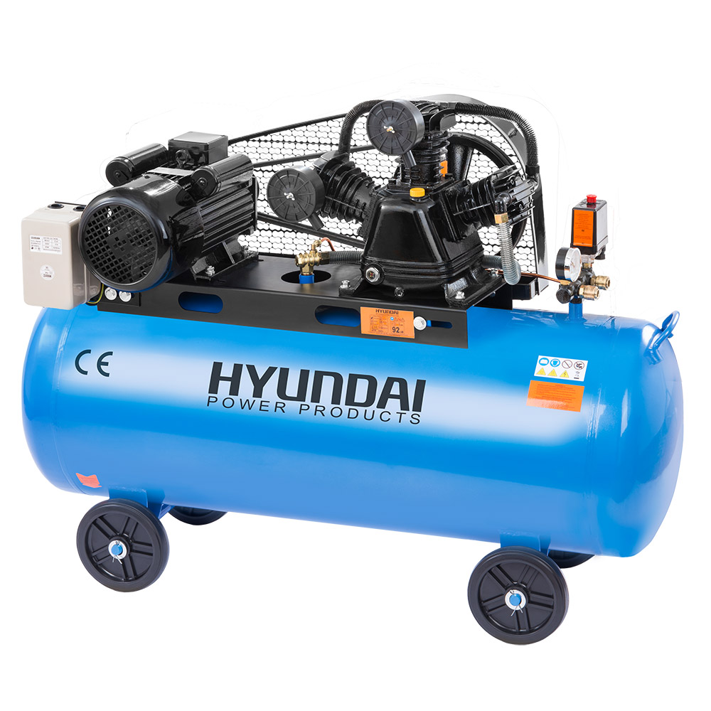 Hyundai HYD-100L/V3, 12.5bar, 240V/3000W Olajos Kompresszor